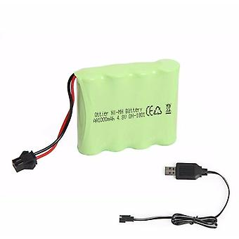 1 Piece 4.8V 1200mAh Rechargeable Spare Battery for Race Car + USB Charger