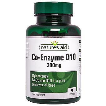 Nature's Aid Mega Potency CO-Q-10 300mg (Co-Enzyme Q10) Softgels 60