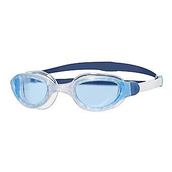 Zoggs natação óculos 2,0 com anti-fog lentes em branco/azul/matiz-um tamanho