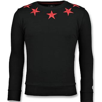 Five Stars - Exclusieve Sweater Mannen - 6354Z - Zwart