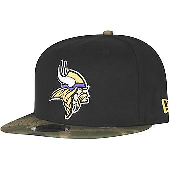 Black camo new era 9Fifty Snapback Cap - Minnesota Vikings
