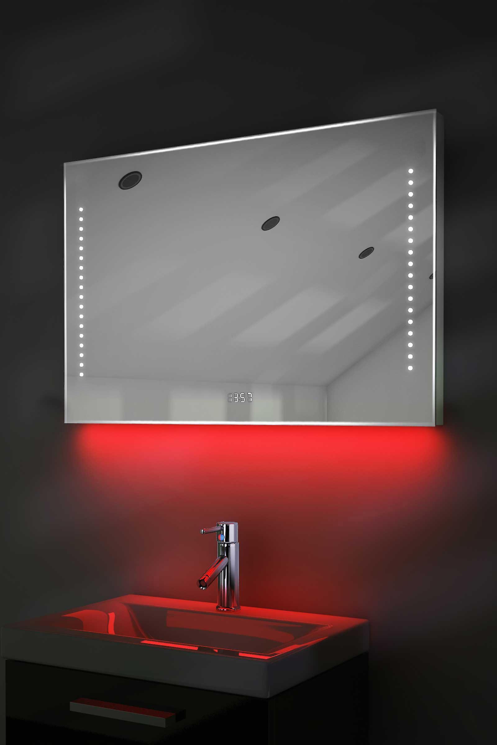 Digital Clock Mirror Slim avec RGB éclairage, désembuage et capteur k194rgb