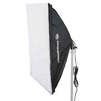 BRESSER SS-16 softbox 70x100cm + 1x125W dagslys lampe