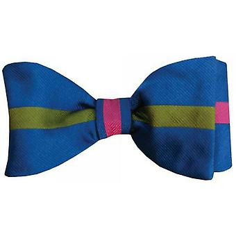 Gene Meyer Three Forks Bow Tie - Blue/Green/Pink