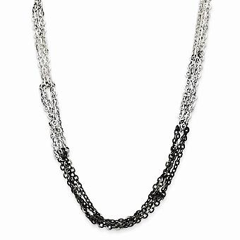925 Sterling Silver Black rhodium Rhodium plated Ruthenium plating Fancy Lobster Closure Fancy 16 Inch Necklace 18 Inch