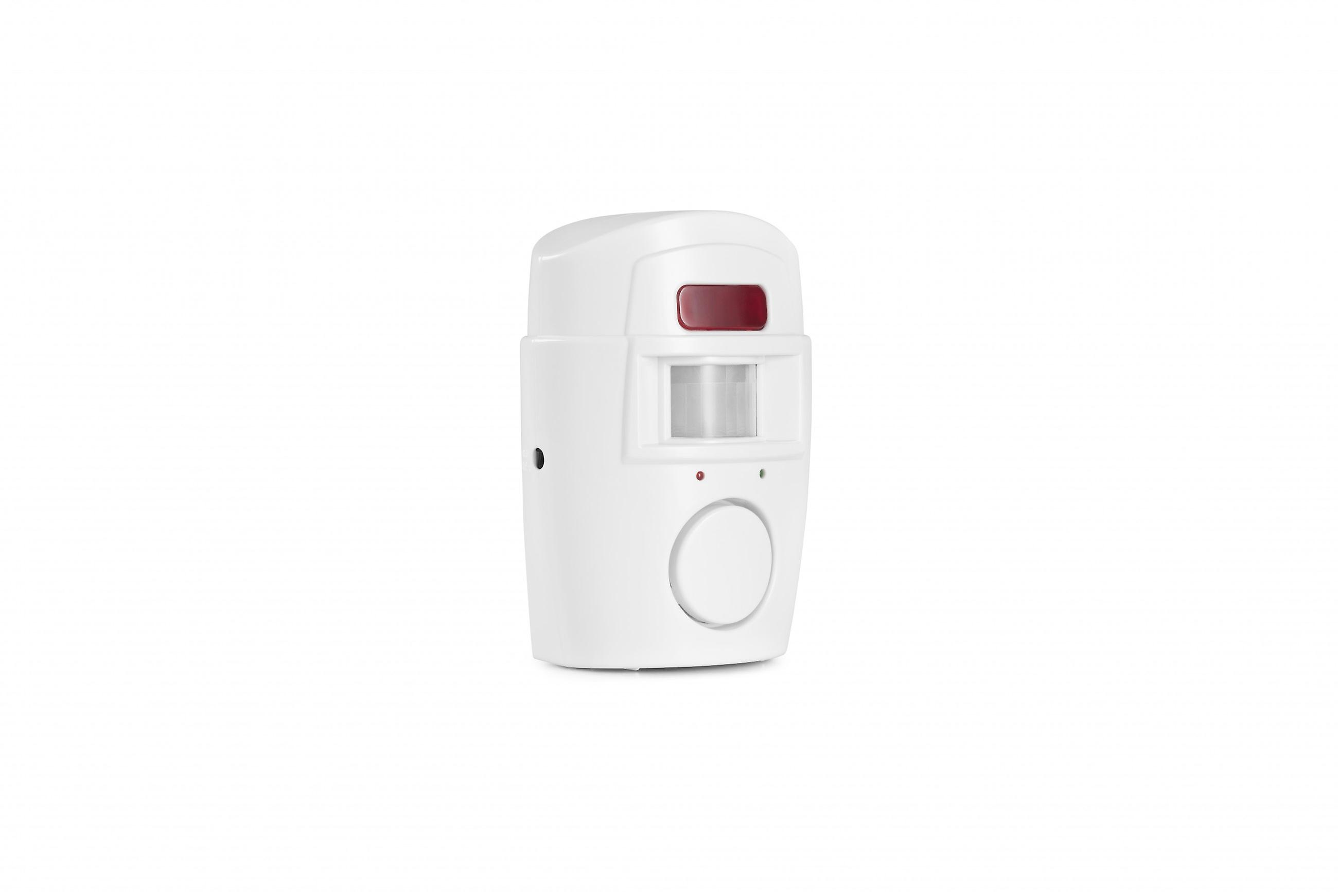 TECHNOSMART alarm with motion detector, alarm system PIR with infrared motion sensor wireless 118 dB, 2 x remote control, for home, apartment, shop, office