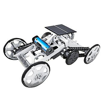 Climbing four-wheel drive toy car with solar cells