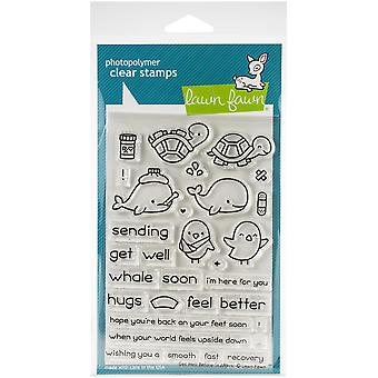 Lawn Fawn Get Well Before 'n Afters Clear Stamps