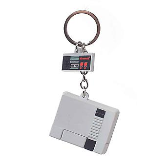 Nintendo Keyring Brelok NES Konsola 3D Guma nowy Oficjalny Szary