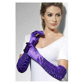 Temptress Gloves, Purple, Long Fancy Dress Accessory