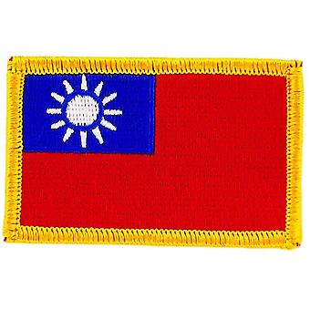 Aufnäher Ecusson Brode Flagge Taiwan Thermocollant Insignble