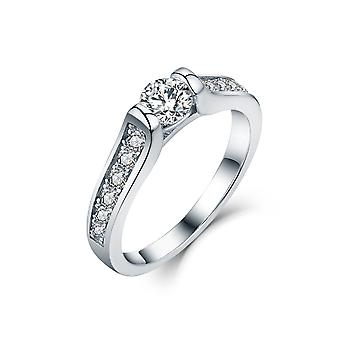 925 Sterling Silver Round Solitaire With Channel Accent