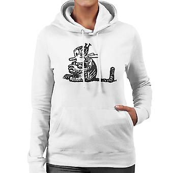 Krazy Kat Curled Up Women's Hooded Sweatshirt
