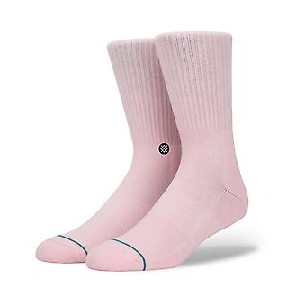Stance Icon Crew Socks in Pink