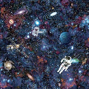 Intergaláctico Espacio Wallpaper Negro Holden 12500