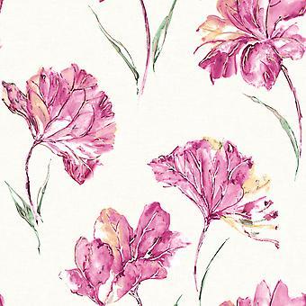 Elements Azalea Wallpaper Pink Holden 90481