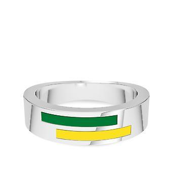 Universiteit van Oregon ring in Sterling Zilver ontwerp door BIXLER