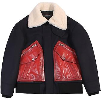 Dsquared2 fur Jacket Navy