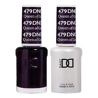 DND Duo Gel & Nail Polish Set - Queen Of Grape 479 - 2x15ml