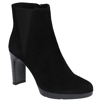 GEOX Annya Dames Suede Ankle Boots Zwart