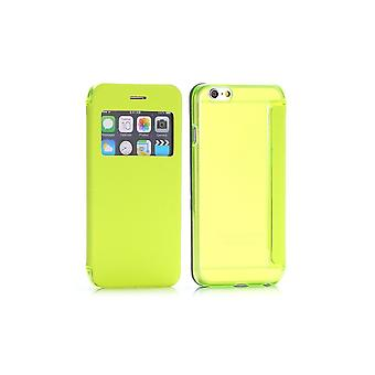 Yellow Flip Case - Back Shell With Window For Apple IPhone 6 4.7
