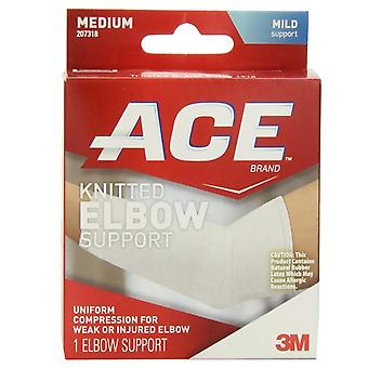 3m ace brand knitted elbow support, mild support, medium, 1 ea