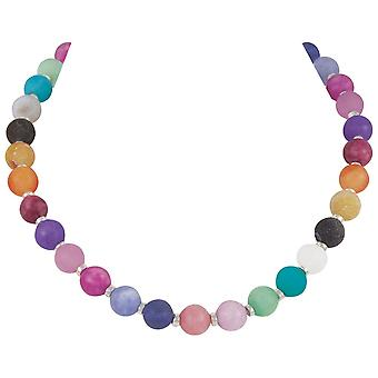Eternal Collection Hacienda Rainbow Multi Jade And Agate Beaded Statement Necklace