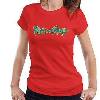 Rick and Morty Classic Logo Glow Women's T-Shirt