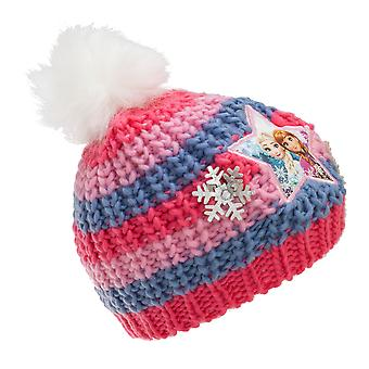 Frozen Childrens/Kids Snowflake Knit Hat