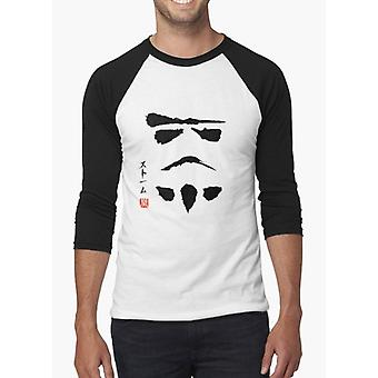 Star wars stormtrooper minimalistic painting black & white full sleeves t-shirt