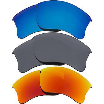 Replacement Lenses for Oakley Half Jacket 2.0 XL Sunglasses Anti-Scratch Anti-Glare UV400 by SeekOptics