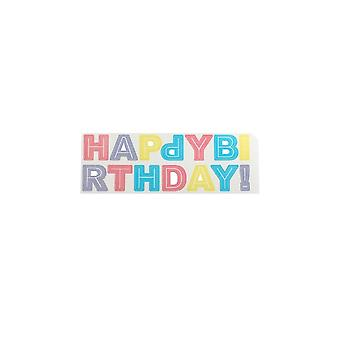 Cake Star Happy Birthday Lettre Décorations Wafer - Pastel