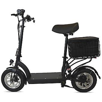 Zipper M6 Electric Scooter With Seat, Cargo Bag, Suspension & Key
