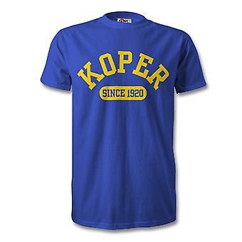 Koper 1920 gegründet Fussball T-Shirt