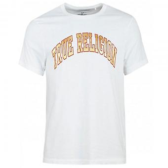 True Religion Shine Edge camiseta blanca de cuello redondo 101589