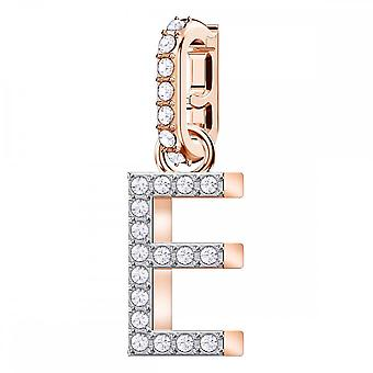 Swarovski Remix Rose Gold Tone Plated & White Crystal Letter E Charm