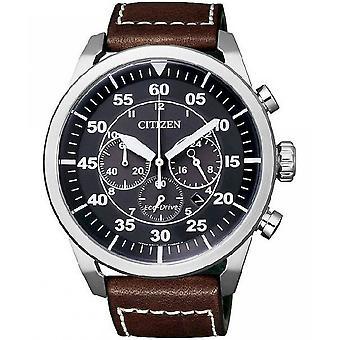 Citizen mens watch elegant eco-drive chronograph CA4210-16E