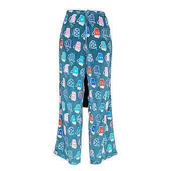 Carole Hochman Women's Pyjama Pants Silky Velour Fleece Green A368290