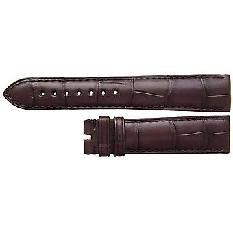 Authentic omega watch strap 19mm dark brown alligator authentic omega
