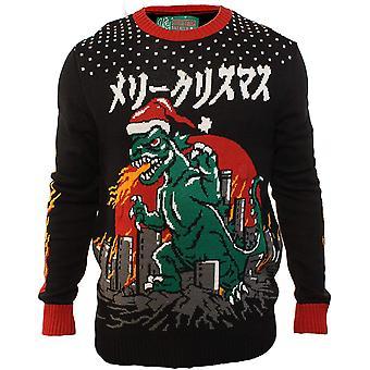 Hässliche Weihnachten Pullover Unternehmen Men's verschiedene Licht-Up Weihnachten, schwarz, Größe klein