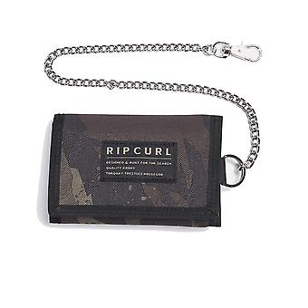 Rip Curl Surf Chain Diverse Polyester Wallet in Kaki