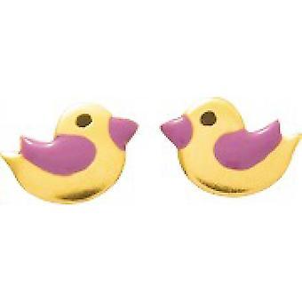 Ohrringe Enten laquis rosa oder 750/1000 gelb (18K)