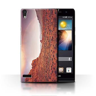 STUFF4 Fall/Abdeckung für Huawei Ascend P6/Regenbogen/Staat Nevada