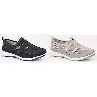 Boulevard Womens/Ladies Suede/Textile Shoes