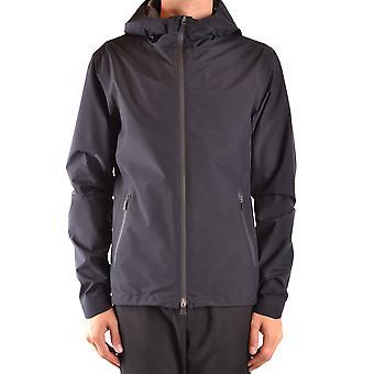 Herno Ezbc034058 Men's Black Nylon Outerwear Jacket
