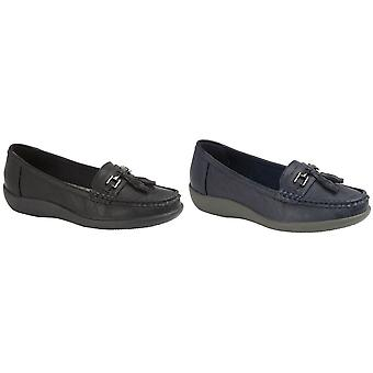 Boulevard Ladies/Womens Tassle Loafers