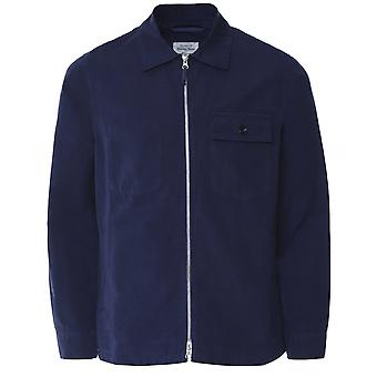 Hartford Linen Blend Zip-Through Dawson Overshirt