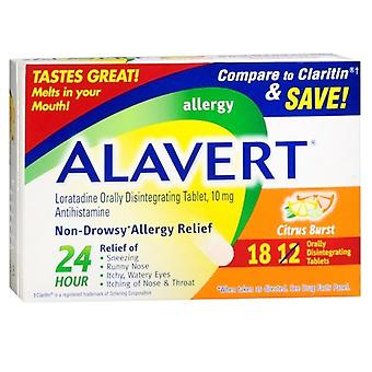 Alavert loratadine, orally disintegrating tablets, citrus burst, 18 ea