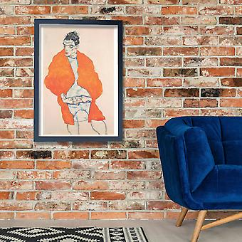 Egon Schiele - Selbst-1914 Poster Print Giclee
