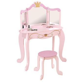 Vanity set toaletă și scaun stil printesa KidKraft